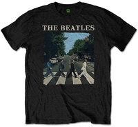 The Beatles - Abbey Road & Logo Boys T-Shirt - Black (1-2 Years) - Cover