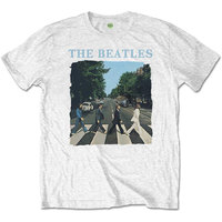The Beatles - Abbey Road & Logo Boys T-Shirt - White (1-2 Years) - Cover
