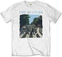 The Beatles - Abbey Road & Logo Boys T-Shirt - White (5-6 Years) - Cover