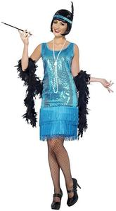 Smiffys Adult Women's Funtime Flapper Fancy Dress (Size UK: XL) - Cover