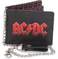 AC/DC - Logo (Embossed Wallet With Chain)
