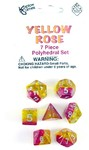 Koplow Games - Set of 7 Polyhedral Dice - Yellow Rose