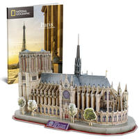 CubicFun - National Geographic - Notre Dame De Paris 3D Puzzle (128 Pieces)