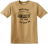 Sex Pistols - Seen 'Em Old Men's T-Shirt - Gold (XX-Large) - Cover