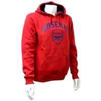 Arsenal F.C. - Crest Men's Hoody - Red (Medium) - Cover
