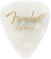 Fender 351 Shape Premium Moto Heavy Guitar Pick (White)
