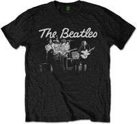 The Beatles - 1968 Live Photo Men's T-Shirt - Black (Small) - Cover
