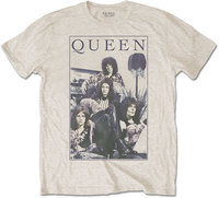 Queen - Vintage Frame Men's T-Shirt - Sand (Medium) - Cover