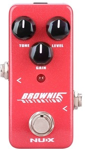NUX Mini Core Series Brownie Electric Guitar Distortion Effects Pedal (Red) - Cover