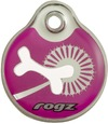 Rogz - Id Tagz Small 27mm Self-Customisable Instant Resin Tag (Pink Bone Design)
