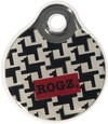 Rogz - Id Tagz Large 34mm Self-Customisable Instant Resin Tag (Houndstooth Design)