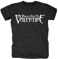 Bullet For My Valentine - Logo Men's T-Shirt - Black (Small) - Cover