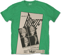 David Bowie - Concert '83 Men's T-Shirt - Green (Medium) - Cover
