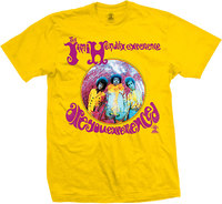 Jimi Hendrix - Are You Experienced Men's T-Shirt - Yellow (Medium) - Cover
