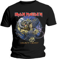 Iron Maiden - Eddie Chained Legacy Men's T-Shirt - Black (Large) - Cover