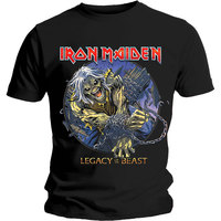 Iron Maiden - Eddie Chained Legacy Men's T-Shirt - Black (Small) - Cover