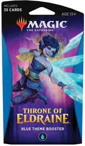 Magic: The Gathering - Throne of Eldraine Theme Booster - Blue (Trading Card Game) - Cover