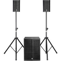 HK Audio Lucas 2K18 670 watt 8 Inch Active DJ PA System with 18 Inch Sub-Woofer (Black)