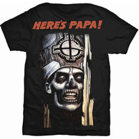 Ghost Here's Papa Men's Black T-Shirt (Large) - Cover