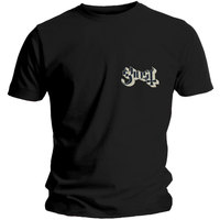 Ghost Pocket Logo Men's Black T-Shirt (Small) - Cover