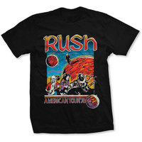 Rush US Tour 1978 Men's Black T-Shirt (XX-Large) - Cover
