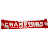 Liverpool - Champions of Europe 2019 Scarf - Cover