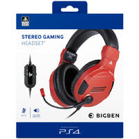 Bigben Interactive - Stereo Gaming Headset - Red (PS4)