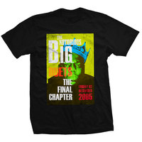 Biggie Smalls Final Chapter Men's Black T-Shirt (Small) - Cover