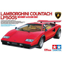 Tamiya - 1/24 - Lamborghini Countach LP500S (Red Body with Clear Coat) (Plastic Model Kit)