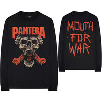 Pantera - Mouth For War Men's Black Long Sleeve T-Shirt (Small) - Cover