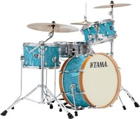 Tama CR30VS-TSH Superstar Classic NEO-MOD 3pc Shells Only Acoustic Drum Kit - Turquoise Satin Haze (12 14 20 Inch) - Cover