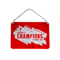 Liverpool FC - Champions of Europe 2019 Metal Window Sign - Cover