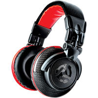 Numark Red Wave Carbon Over-Ear Full-Range Professional DJ Headphones (Black and Red)