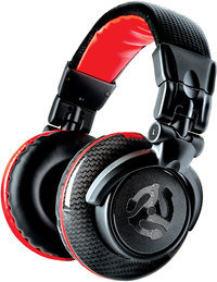 Numark Red Wave Carbon Over-Ear Full-Range Professional DJ Headphones (Black and Red) - Cover