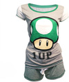 Nintendo - Shortama, Mushroom 1 UP Ladies Pajamas (X-Small)
