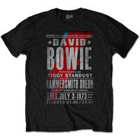 David Bowie - Hammersmith Odeon Men's Black T-Shirt (XXX-Large)