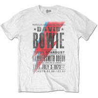 David Bowie Hammersmith Odeon Men's White T-Shirt (X-Large) - Cover