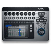 QSC TouchMix-8 TouchMix Series 14-Channel Digital Mixer with 7 Inch Touch Screen and Bag