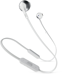 JBL Tune 205BT Wireless In-Ear Earbud Headphones - Silver