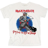 Iron Maiden Chicago Mutants Men's White T-Shirt (Large) - Cover
