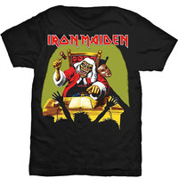 Iron Maiden Deaf Sentence Men's Black T-Shirt (Medium) - Cover
