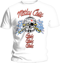 Motley Crue - Vintage Spark Plug GGG Men's T-Shirt - White (Large) - Cover