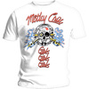 Motley Crue - Vintage Spark Plug GGG Men's T-Shirt - White (Medium)