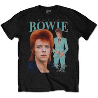 David Bowie - Life On Mars Homage Men's T-Shirt - Black (Small) - Cover