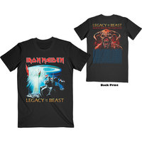 Iron Maiden - Two Minutes to Midnight Men's T-Shirt - Black (Small) - Cover