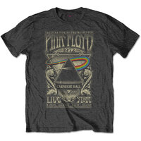 Pink Floyd - Carnegie Hall Poster Men's T-Shirt - Charcoal (XX-Large) - Cover