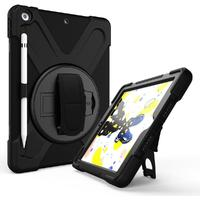 Tuff-Luv Armour Jack Case and Stand with Shoulder Strap for Apple iPad 10.2 2019 - Black (Open Packaging)