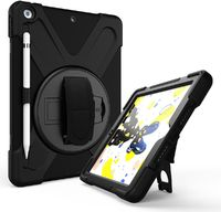 Tuff-Luv Armour Jack Case and Stand with Shoulder Strap for Apple iPad 10.2 2019 - Black (Open Packaging) - Cover
