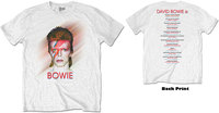 David Bowie - Bowie Is Men's T-Shirt - White (Small) - Cover