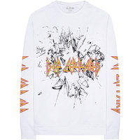 Def Leppard - Shatter Men's Long Sleeve Tee - White (Large) - Cover